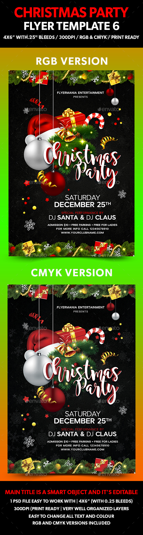 Christmas Party Flyer Template 6 - Events Flyers
