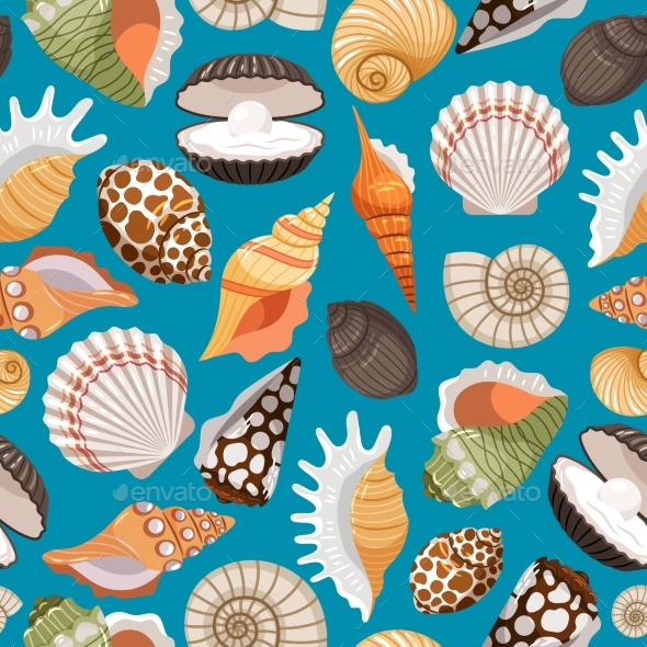 Travel Background With Sea Shells - Seasons Nature