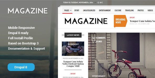 Gazeta – News & Magazine Drupal 8 Theme