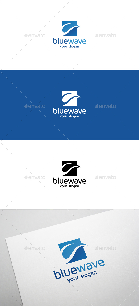 Blue Wave Logo - Nature Logo Templates