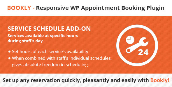 Bookly Service Schedule (Add-on) - CodeCanyon Item for Sale