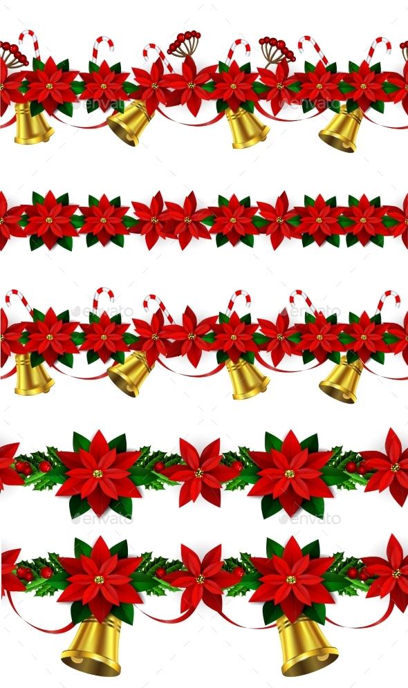 Set Of n Seamless Christmas Borders - Christmas Seasons/Holidays