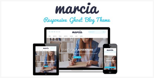 Marcia – Responsive Masonry Ghost Blog Theme