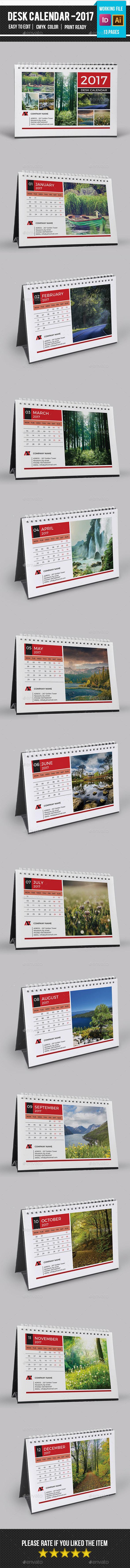Desk Calendar 2017 -v13 - Calendars Stationery