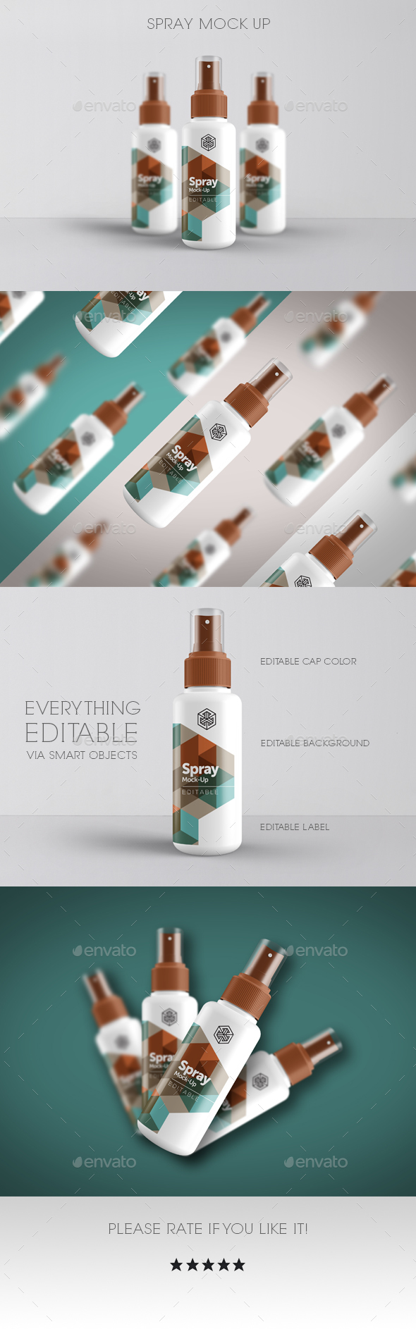Spray Mock Up - Beauty Packaging
