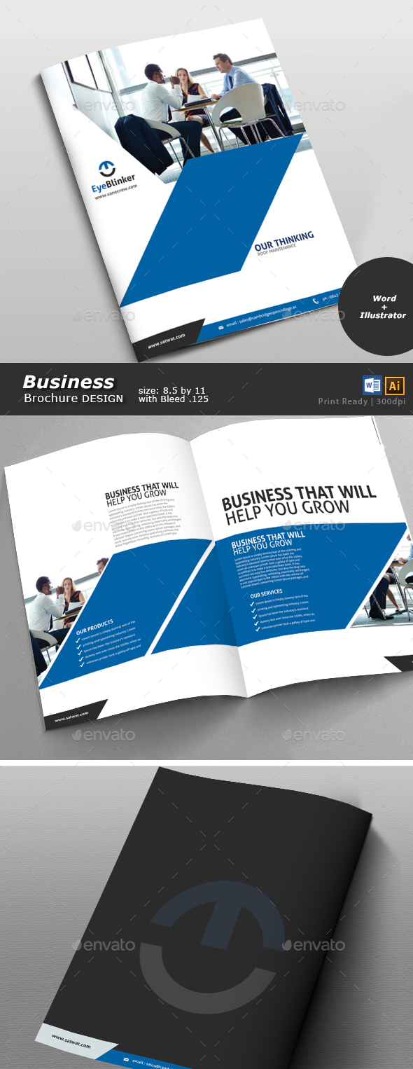 Business Brochure Design - Brochures Print Templates