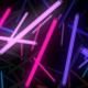 Neon Lamps Space Flight VJ Loop - VideoHive Item for Sale