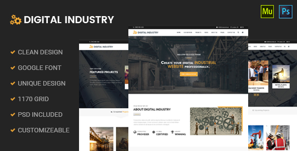 Digital Industry – Industrial Business Muse Template
