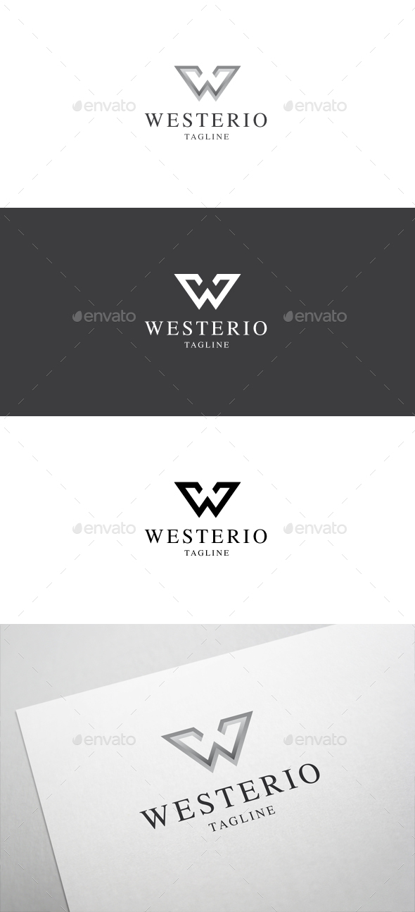 Westerio W Letter Logo - Letters Logo Templates