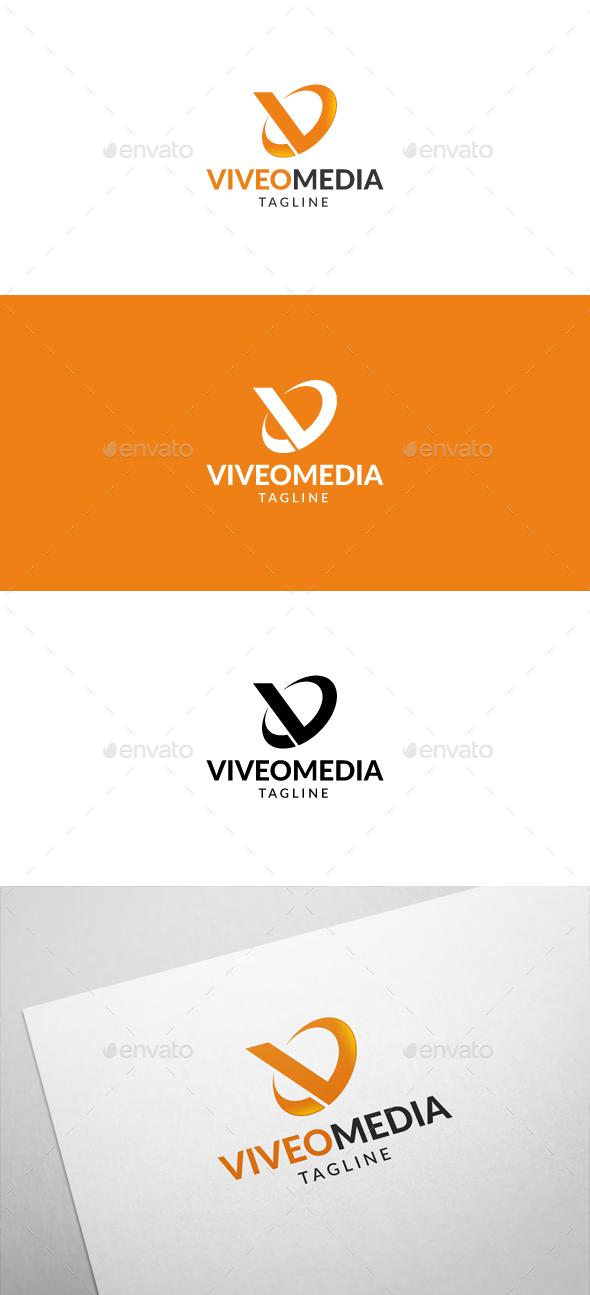 Viveo Media V Letter Logo - Letters Logo Templates