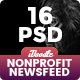 Charity / Nonprofit / Fundraising Newsfeed Ads - 16 PSD [02 Size Each]