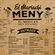 Mexican Food Menu Placemat template - GraphicRiver Item for Sale