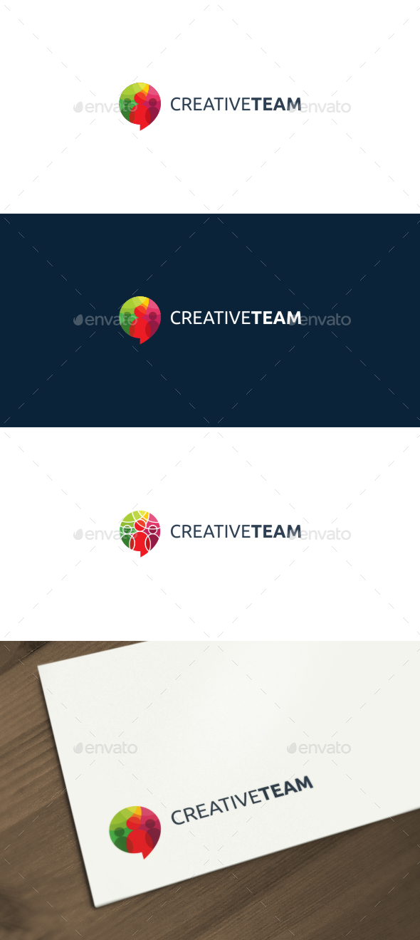 Creative Team Logo - Humans Logo Templates