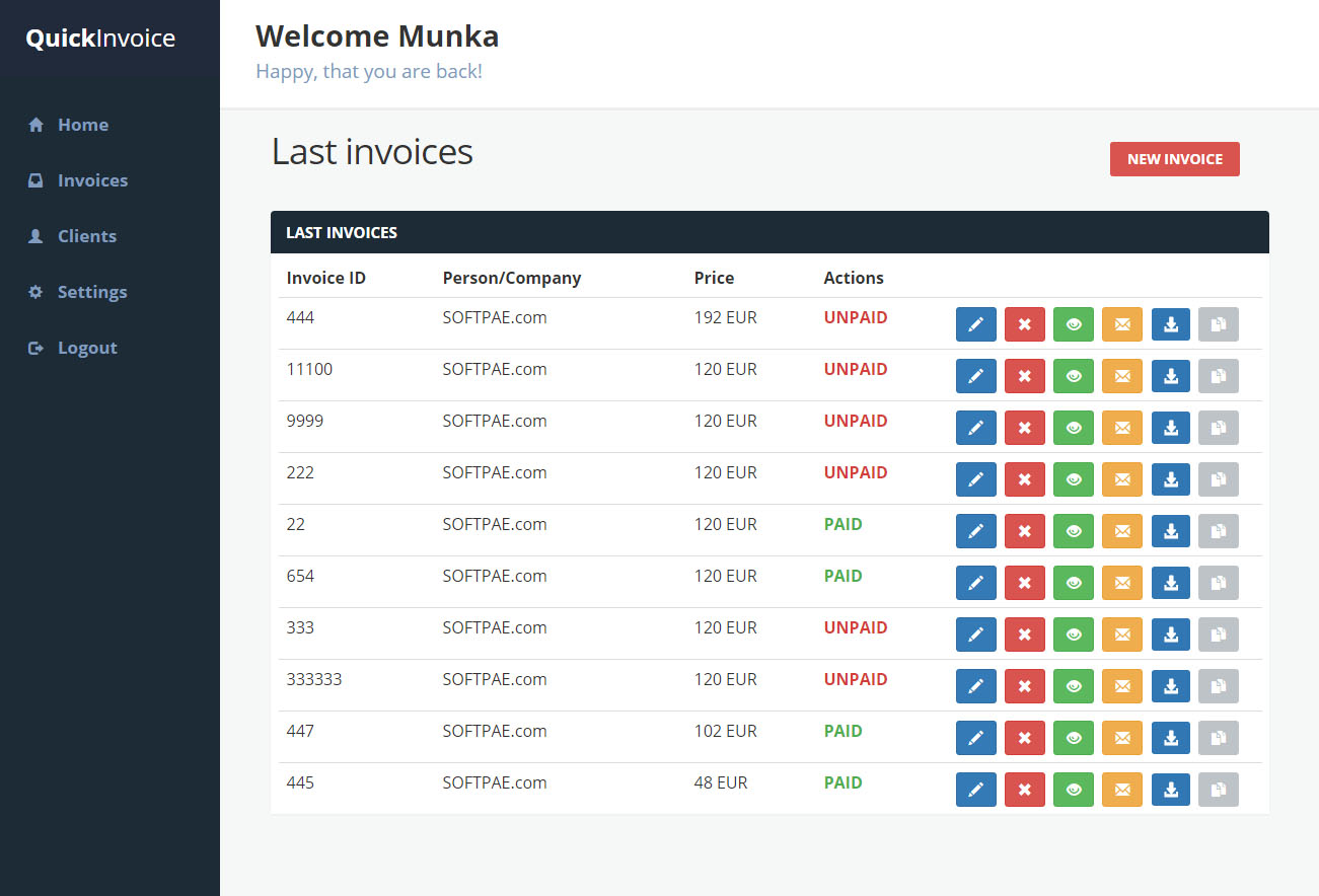QuickInvoice - Invoice manager with PayPal integration by munka123