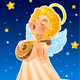 Christmas Greeting Card with Angel - GraphicRiver Item for Sale