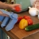Woman Wiping Wet Washed Vegetables - VideoHive Item for Sale