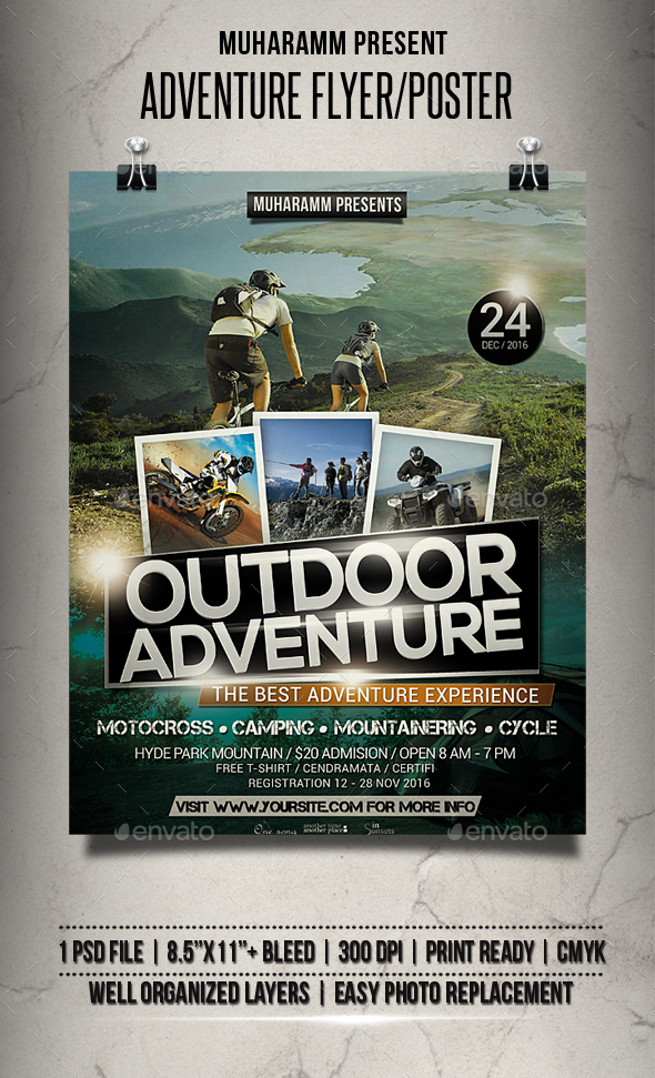 Adventure Flyer / Poster - Sports Events