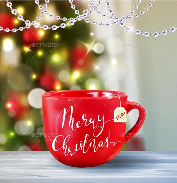 Background With Christmas Tea - Christmas Seasons/Holidays