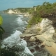 Bali Shore Cliffs Covered By Bushes - VideoHive Item for Sale