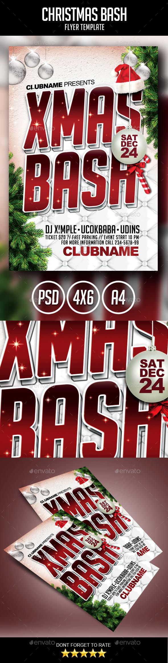 Christmas Bash Flyer - Holidays Events