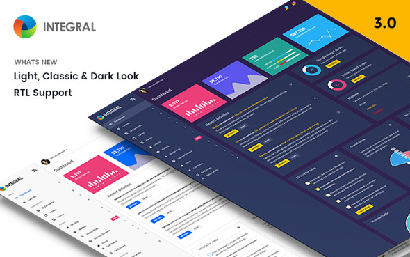 Integral – Responsive Admin Template – with RTL Support