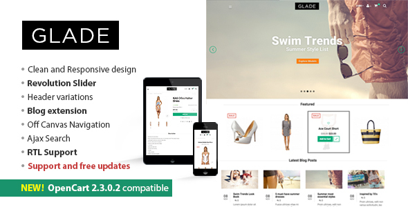 Glade Responsive OpenCart Theme