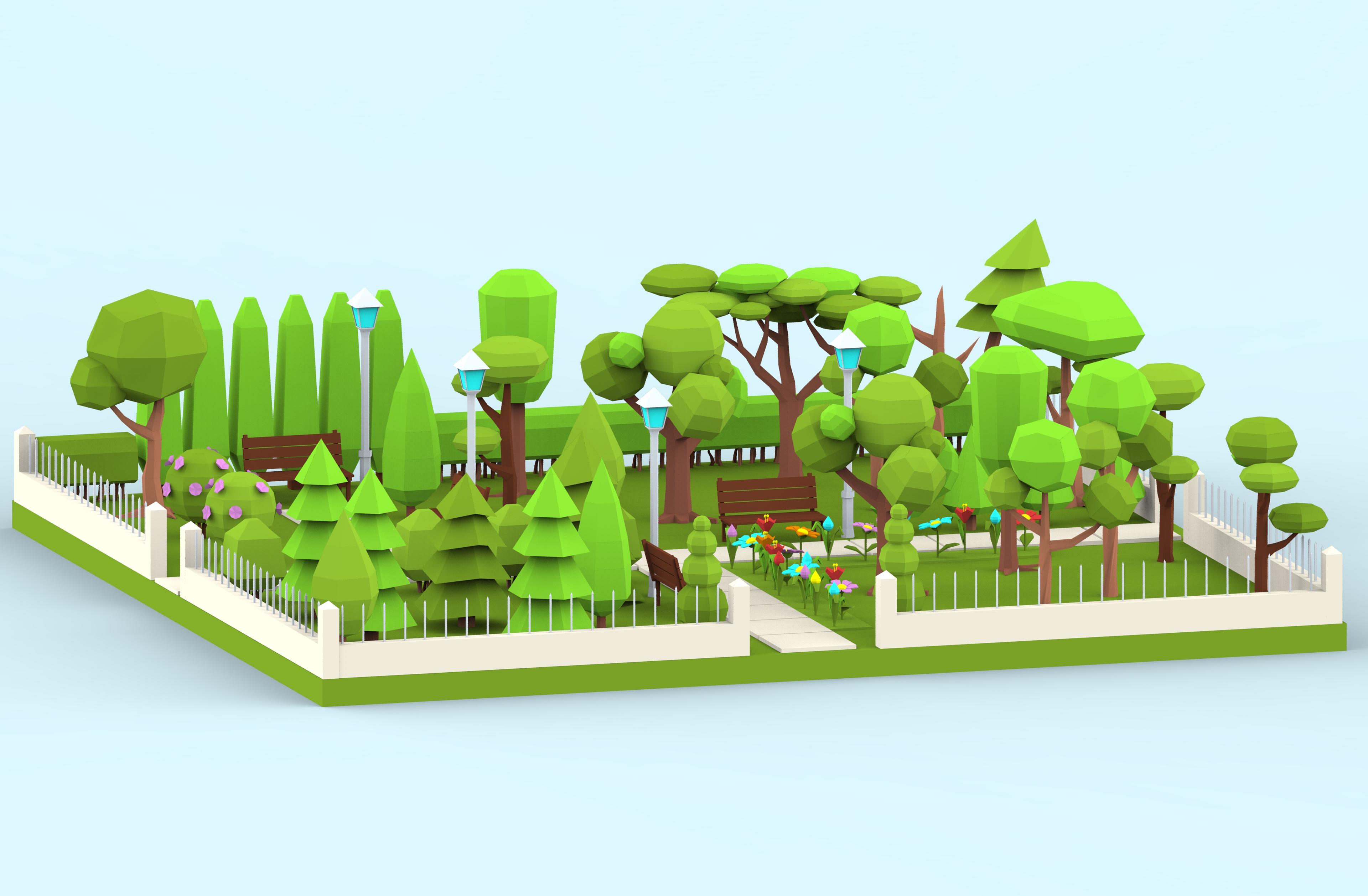 city park cartoon - photo #28