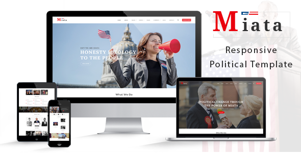 Image of Miata - Political HTML5 Template
