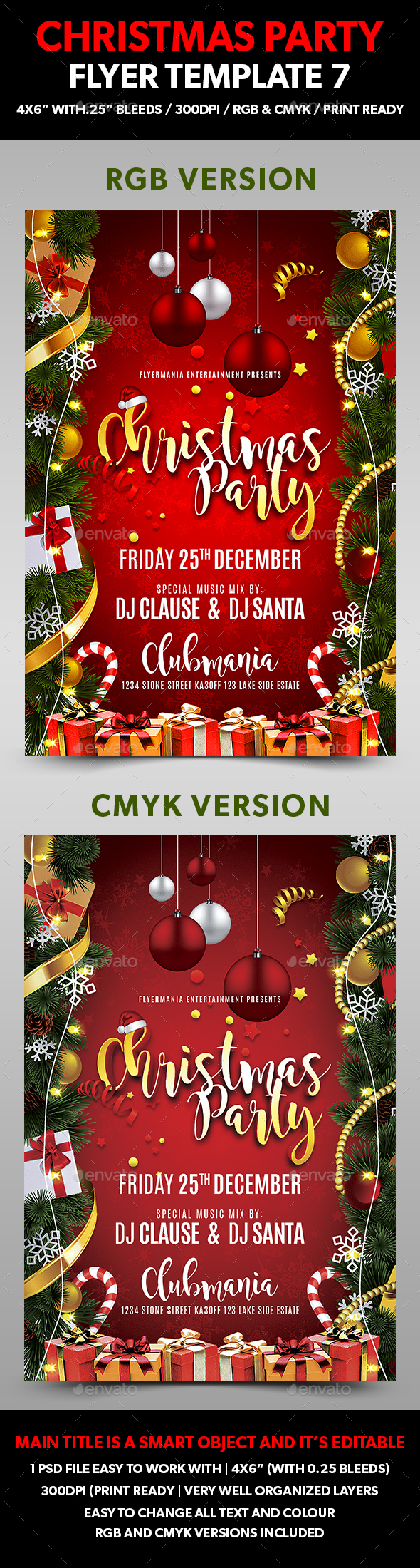 Christmas Party Flyer Template 7 - Events Flyers