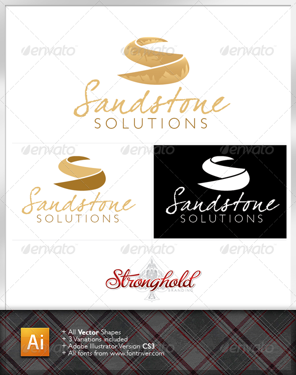 Sandstone Solutions Logo Template - Letters Logo Templates