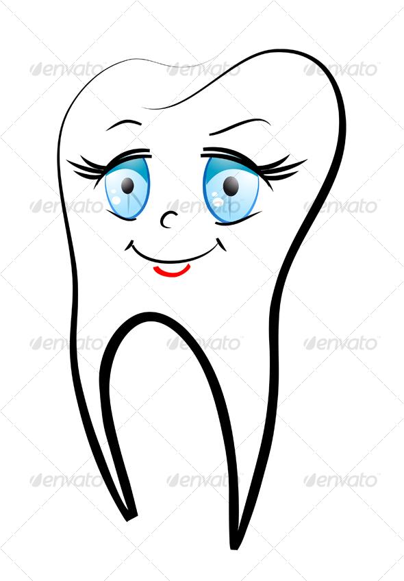 Smiling teeth - Health/Medicine Conceptual
