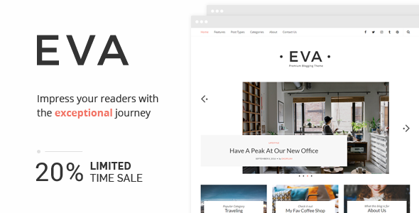 Eva - Premium Responsive WordPress Blog Theme