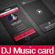 DJ Music Card - GraphicRiver Item for Sale