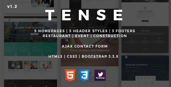 Tense | Multipurpose HTML5 Onepage Template
