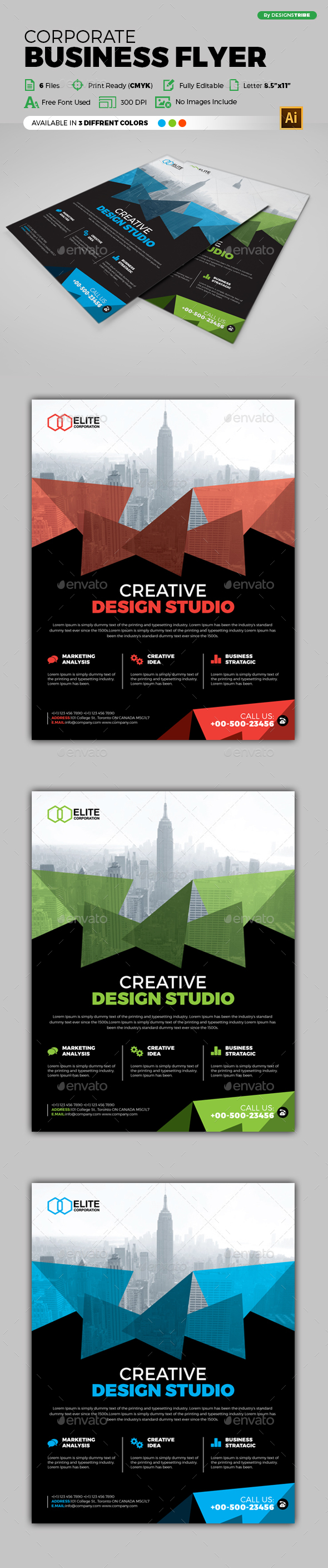 Flyer – Multipurpose 241 - Flyers Print Templates