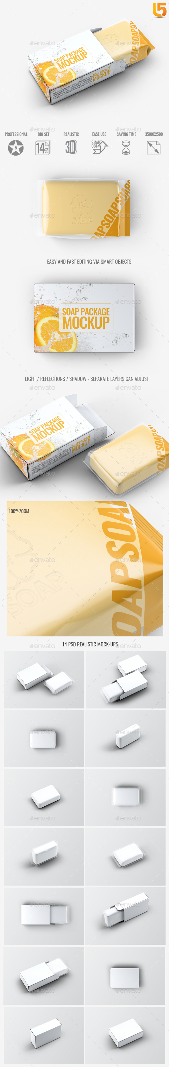 Soap Bar Package Mock-Up - Beauty Packaging