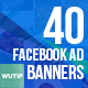 40 Facebook Ad Banners-Organic Shop - GraphicRiver Item for Sale