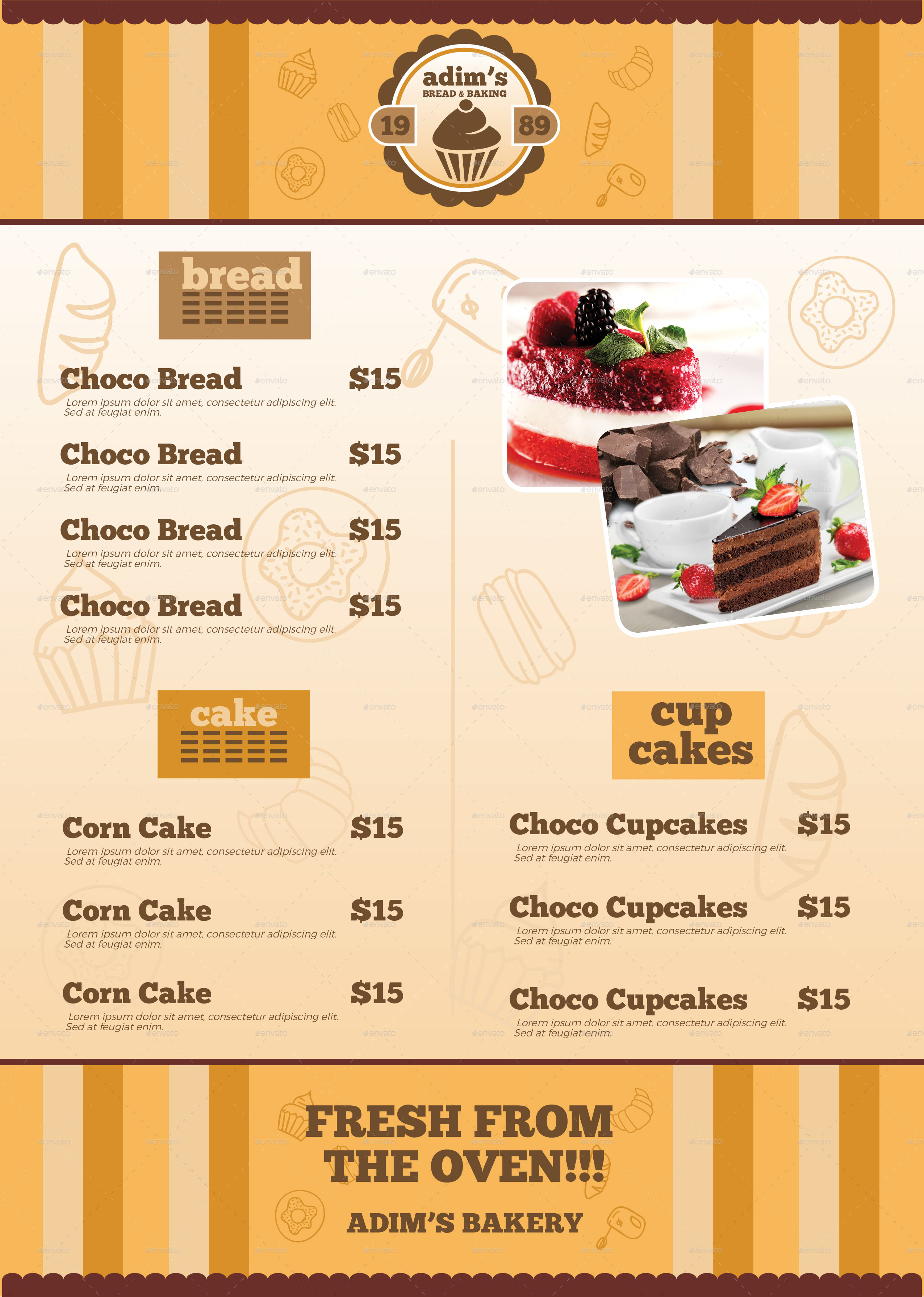 Bakery menu flyer template by adimasen graphicriver preview image setfrontg thecheapjerseys Images