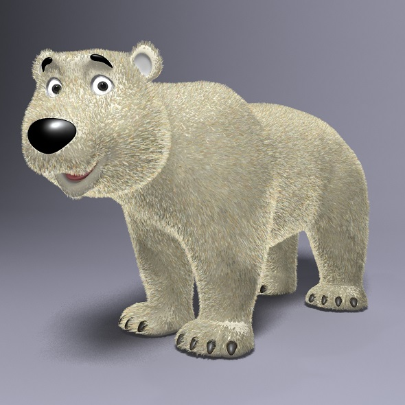 Cartoon Polar Bear RIGGED - 3DOcean Item for Sale