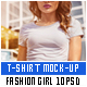 T-Shirt Mock-Up Fashion Girl - GraphicRiver Item for Sale