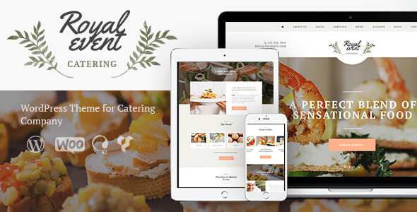 Best 18+ Catering WordPress Themes 2019 3