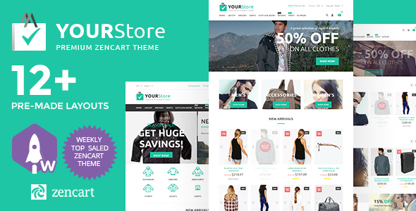 Download YourStore Premium Zencart Theme nulled version