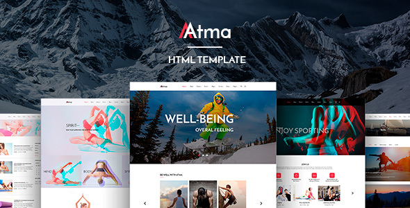 Atma — Multipurpose Wellness | Sport | Yoga Site Template