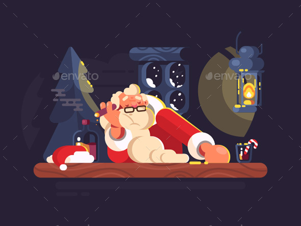 Bad Santa Claus - Characters Vectors