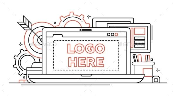 Marketing - Line Design Illustration - Concepts Business