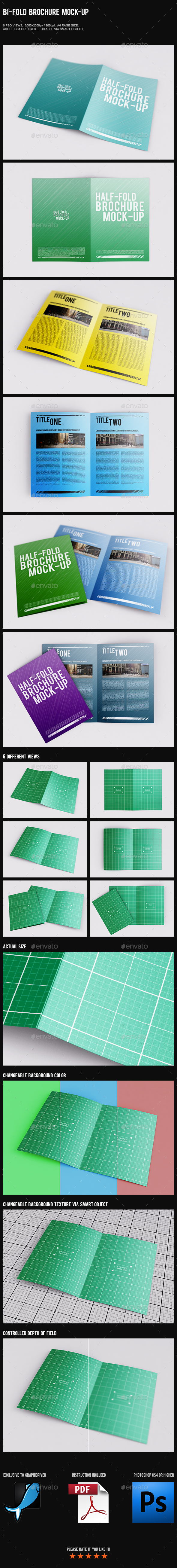 Bi-Fold Brochure Mock-Up - Brochures Print