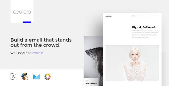 coolelo - Responsive Email Template Minimal Portfolio - Email Templates Marketing