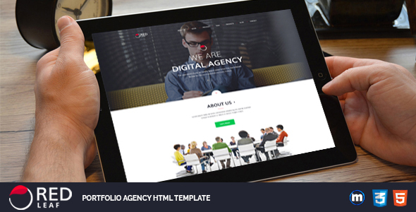Red Leaf – Portfolio Agency HTML Template