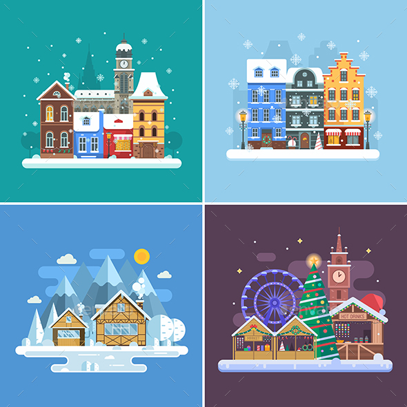 Winter Travel Backgrounds - Travel Conceptual