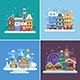 Winter Travel Backgrounds - GraphicRiver Item for Sale